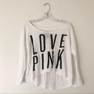 PINK Victoria's Secret Love Pink Shirt